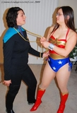 Lady Lin and Jeri star in Wonder Trek. A super heroine battle!