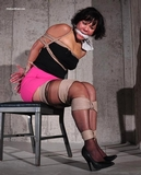 Bound & Gagged, Rope Harness Applied On Screen by RopExpert: Audrey