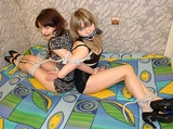 Two Hotties Roped Back to Back and Struggling: Illusio & Lessy