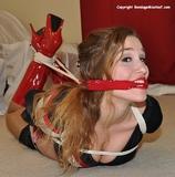 Dancer Stalked: Blair Hogtied & Gagged (HD) Skirt, Ball Gagged, High Heels