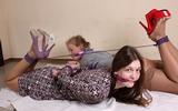 Double High Heel Hogtie Struggle: Albi Rose & Valery