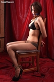 Stripped to her Pantyhose, Bra and Roped To Chair