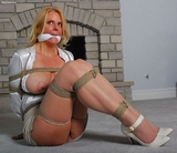 Big Beautiful Breasts in a Rope Harness