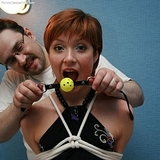Rope Tied, Ball Gagged Escape Challenge: Eugenia
