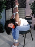 Christina Carter Tightly Tied & Tape Gagged