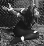 Christina Carter Caged Bondage in Black & White