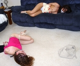 The Bad Roommate Topless and Tied