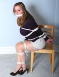 Heather in Sling Back High Heel Struggle