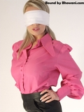 Hannah Claydon Blindfolded