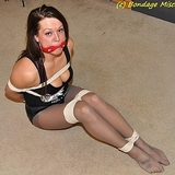 Welcome To The Company, The First Day Initiation! Cleavage, Hooters Outfit, Pantyhose, Cleave Gagged, Stockinged Feet