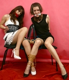 Two Hot Babes Roped Together!