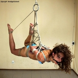 Katerina - Nothing She Could Do About It (HD) Bound, the hemp rope around her arms, her legs, her young body. Ballgagged. Suspended in the ropes from the ceiling. He could - and would ...