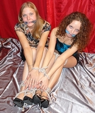Two Sexy Babes Bound Together