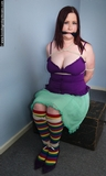 Roped, Gagged, BBW with Massive Cleavage