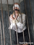 Blindfolded, Ball Gagged, Roped and Caged
