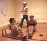 Paris, Ashley, Lindsey: Stripped, Bound, Gagged & Left To Struggle. Silk Stockings, Sexy Strappy High Heels, Garters, Cleave Gagged On Screen, Multiple Women Bound