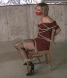Red Dress Bondage and Struggle