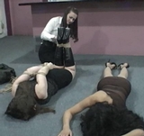 Serene, Crystal and Hannah Forced To Tie Her Up