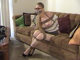 Secretary Shannon Bound and Tape Gagged