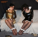 Misty Grease, Maryol: Sexy Babes In Dresses Stockinged Feet Struggle