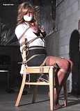 Tiny Chair Tied, Breasts Exposed