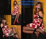 Sexy Sundress Struggle - Dress, Pantyhose, Ropes, Cleave Gagged