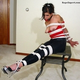 Girlfriend Bound, Gagged and Breasts Exposed