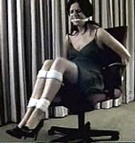 Office chair struggle, cleave gagged, dress, high heels - Classic Video