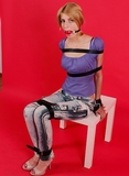 Xena Ball Gagged & Leather Strap Struggle