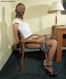 Nicole Tied With Stockings