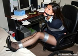 Secretary Tomiko, Bound At Her Desk