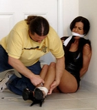 Kobe Lee in Bachelor Party - High Heels, Dress, Mouth Stuffed, Cleave Gag