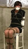 Another Paid Fantasy Abduction, She's Getting Her Money's Worth! Chair tied, basement, otm gag, ropes