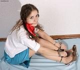 Secretary Trying My Cuffs!