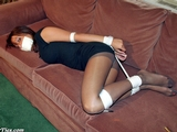 Madison Tape Gagged and Hogtied