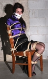 Chair Tied and Mouth Stuffed On Screen