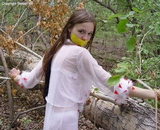 Bound & Gagged In The Woods. Tape Gagged, Tied To Tree, Outdoors