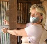 Hanka Cuffed and Exposed In The Barn
