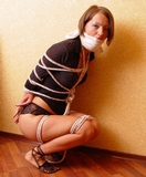 Her Huge Mouth Stuffing Wrap Gag