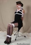 Her Little Black Dress, Ropes and Gag