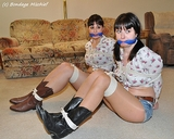 Going To The Sadie Hawkins Dance starring Jeri & Monica. Daisy dukes, pantyhose, Crop Tops and cowgirl boots. Doesn't get much better than watching these two hotties struggle!