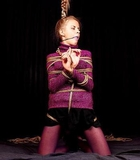 Bound, Gagged and Held High By Her Pony Tail (HD)