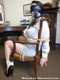 Jewell Marceau is the Struggling Blindfold Secretary