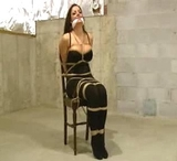 Chair Tied, Massive Cleavage, Fondled, Ropes Tightened
