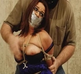 Bound, Gagged, Fondled, Eye Glasses Removed