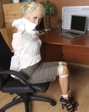 Secretary Charlotte Roped and Gagged