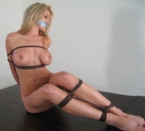April Dancer Bound In The Line Of Duty. Blonde, naked, nude, boobs, tits, ropes, rope tied, bare foot