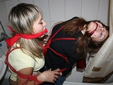Two Bound and Gagged in Bathroom Struggle