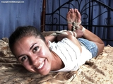 Christy - Smiling Hogtie Struggle