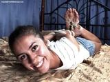 Christy - Smiling Hogtie Struggle